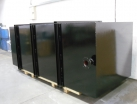 Settlement tank fabrication painted black bitumastic
