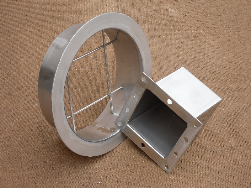 Duct section manufactured from 304 stainless steel