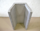 Trough fabrication manufactured from 304 stainless steel