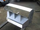 Chute fabrication manufactured from 304 stainless steel